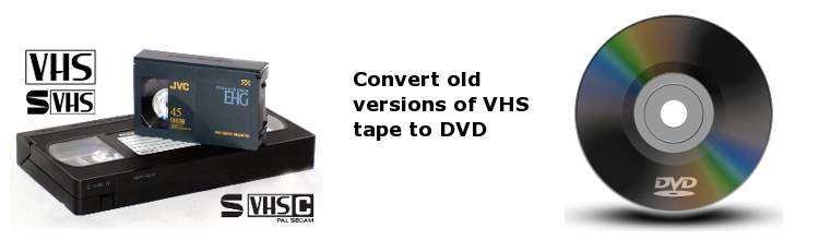 Tape and film conversion to dvd